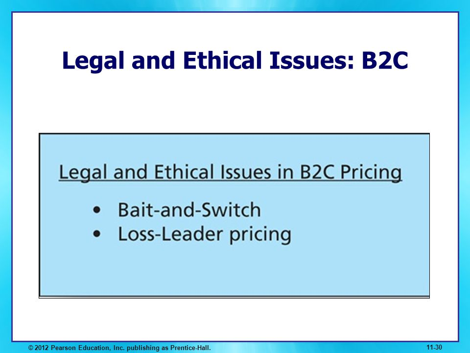 Legal and Ethical Issues: B2C