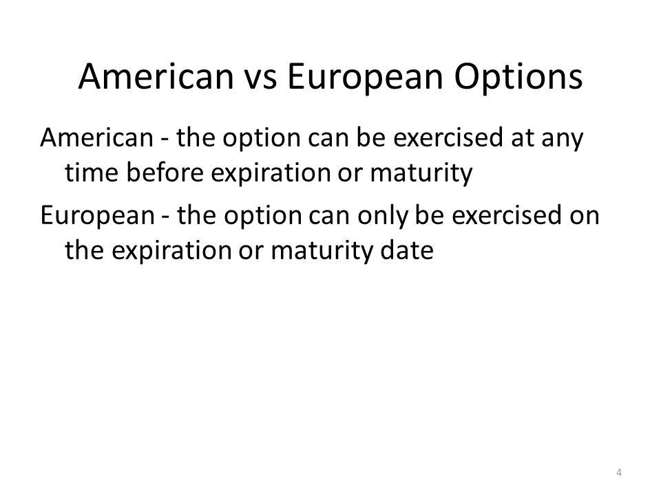 American vs European Options