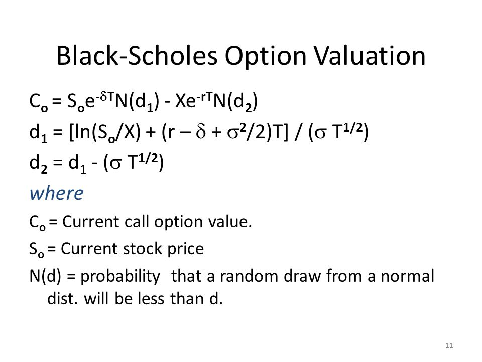 Black-Scholes Option Valuation
