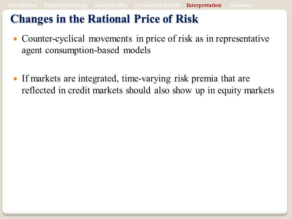 Changes in the Rational Price of Risk