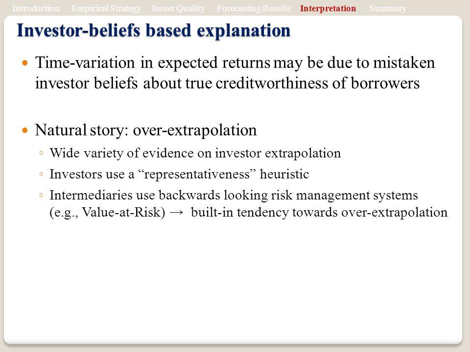 Investor-beliefs based explanation