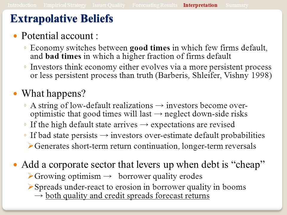 Extrapolative Beliefs