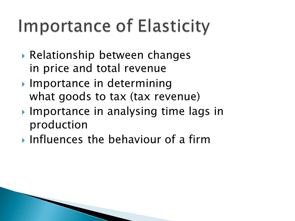 Importance of Elasticity