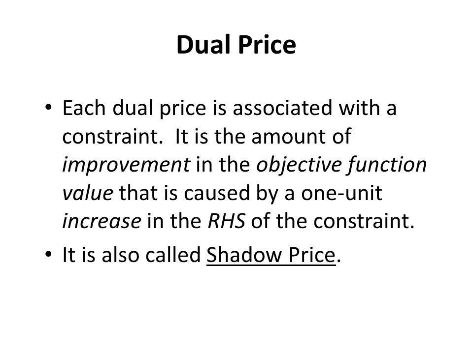 Dual Price