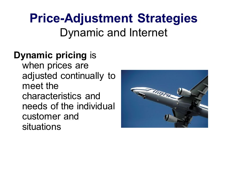 Price-Adjustment Strategies Dynamic and Internet