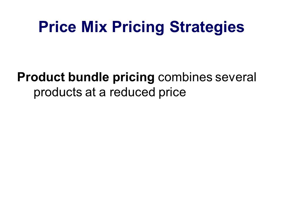 Price Mix Pricing Strategies