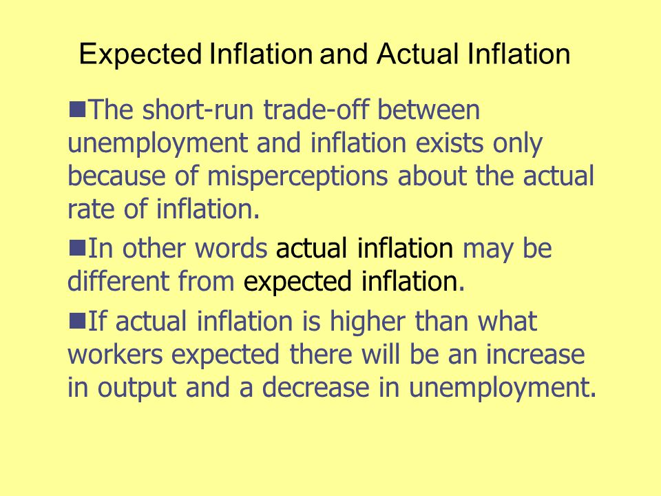 Expected Inflation and Actual Inflation