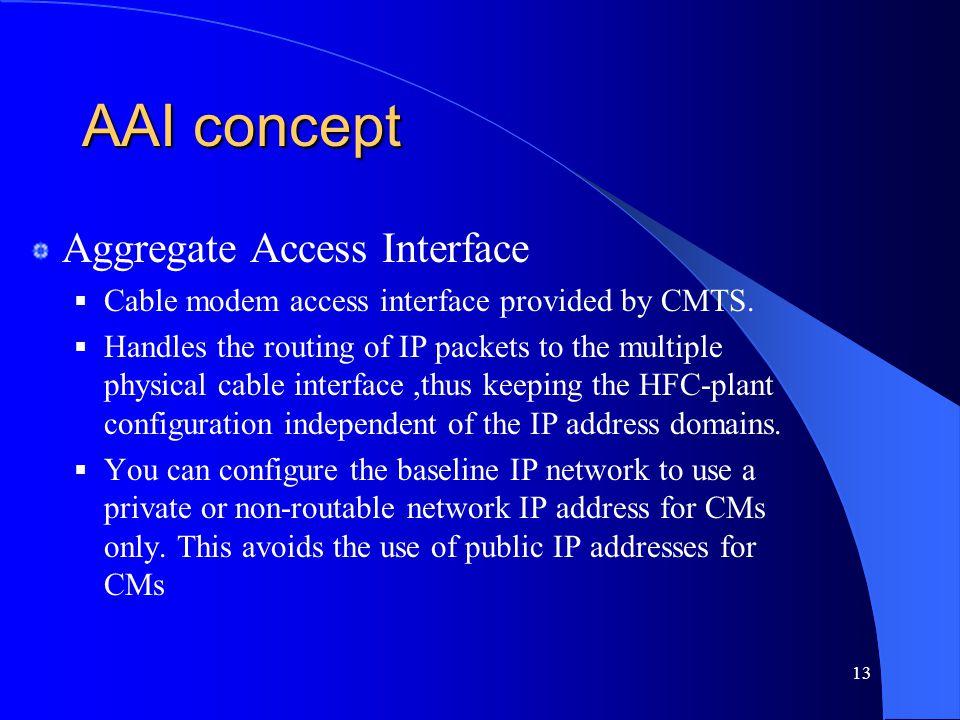 AAI concept Aggregate Access Interface