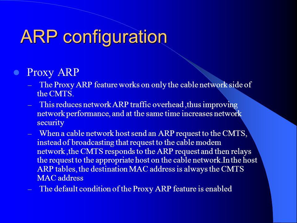 ARP configuration Proxy ARP
