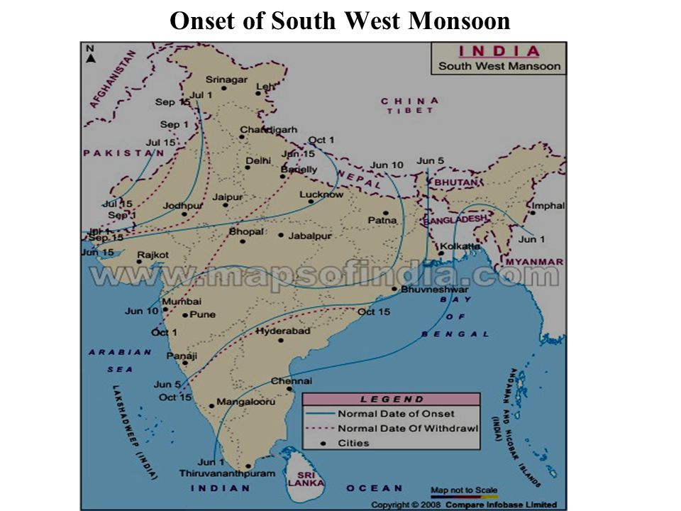 Onset of South West Monsoon