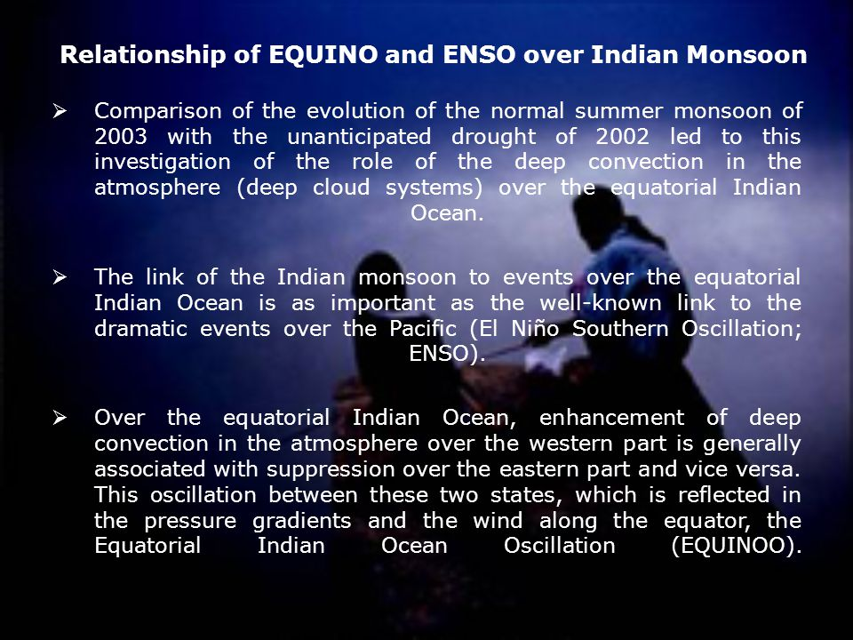 Relationship of EQUINO and ENSO over Indian Monsoon