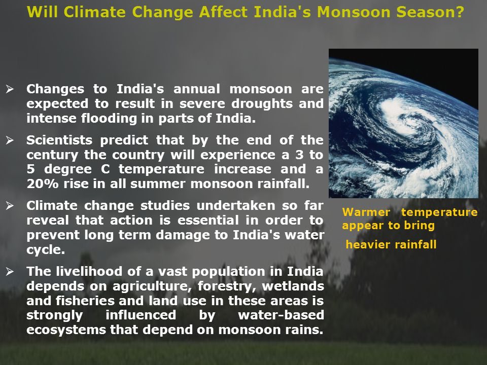 Will Climate Change Affect India s Monsoon Season