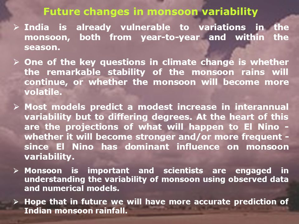Future changes in monsoon variability