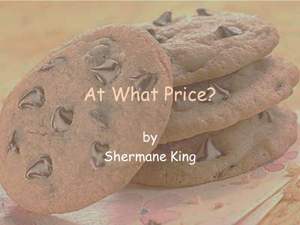 At What Price by Shermane King