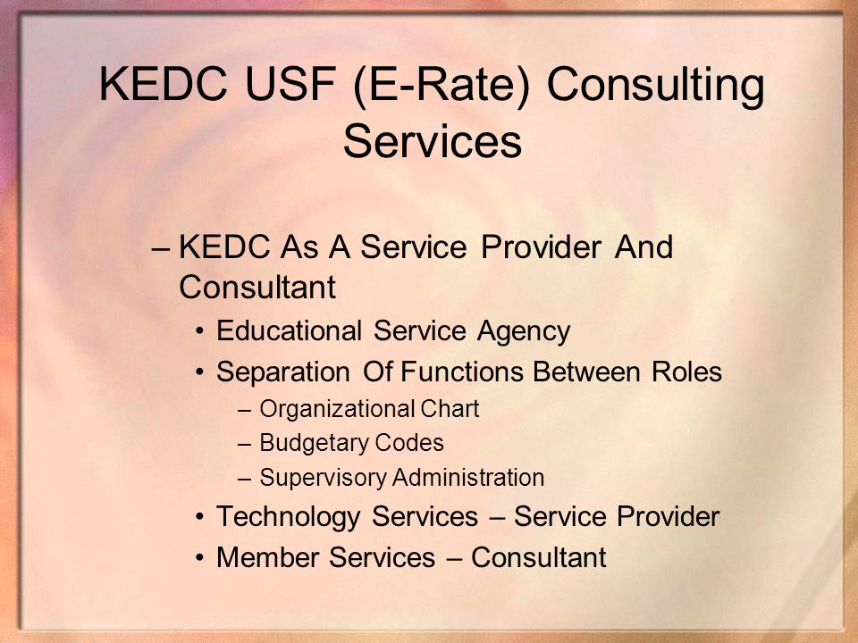 KEDC USF (E-Rate) Consulting Services