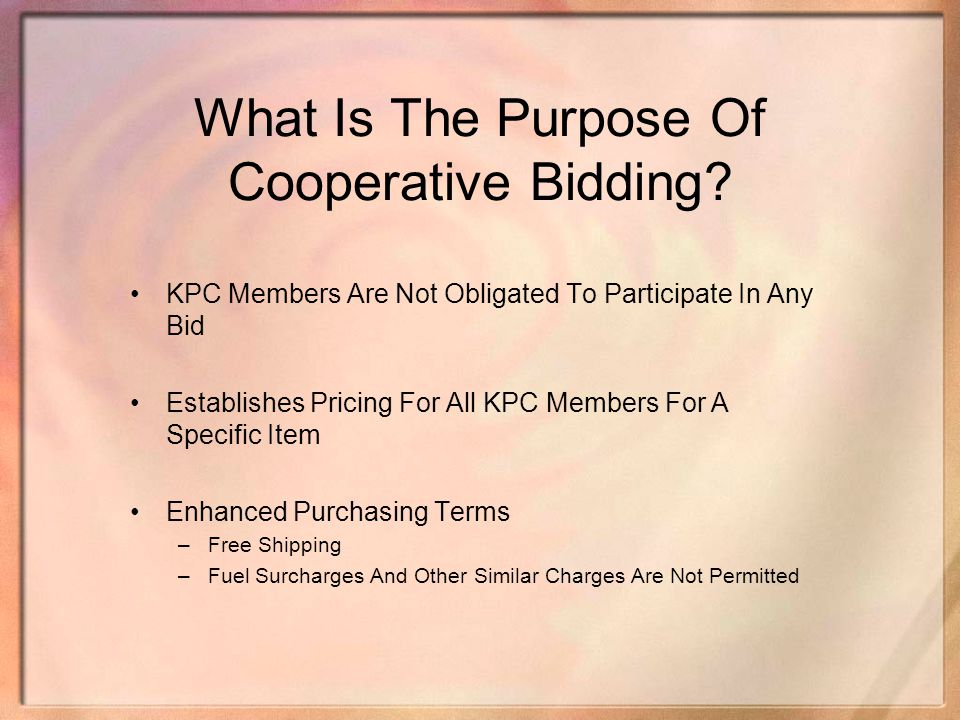 What Is The Purpose Of Cooperative Bidding