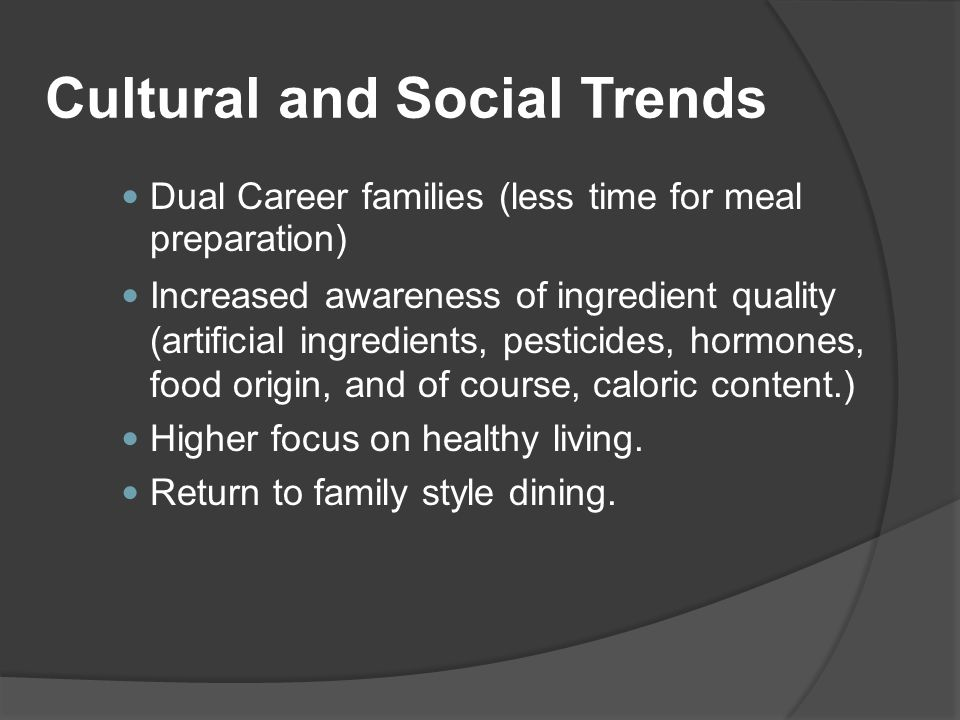 Cultural and Social Trends
