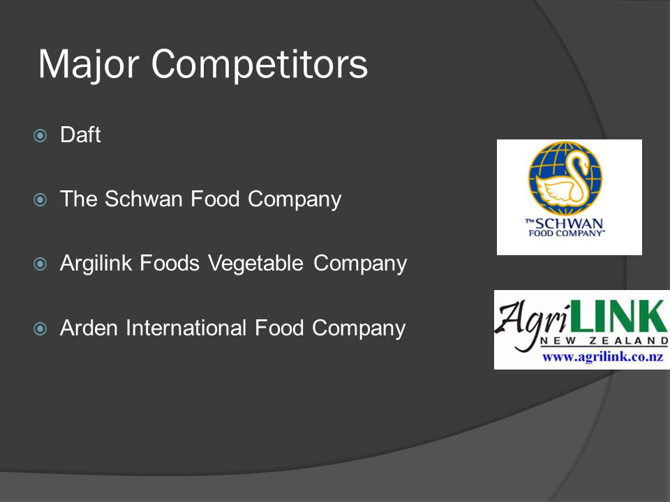 Major Competitors Daft The Schwan Food Company
