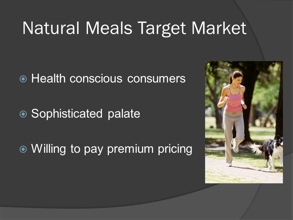Natural Meals Target Market