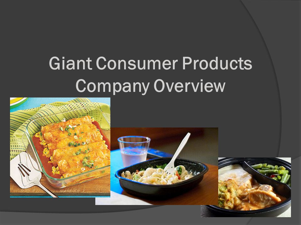 Giant Consumer Products Company Overview