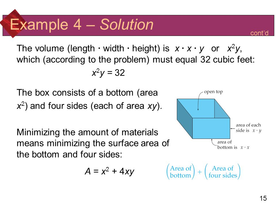 Example 4 – Solution A = x2 + 4xy