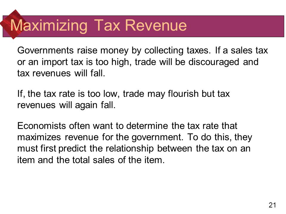 relationship between tax rates and revenues