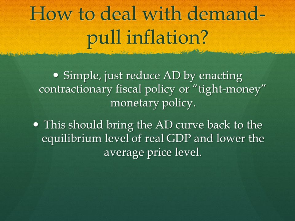 How to deal with demand-pull inflation