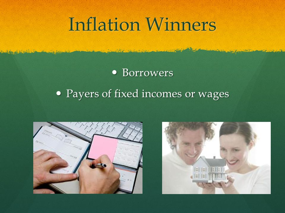 Payers of fixed incomes or wages