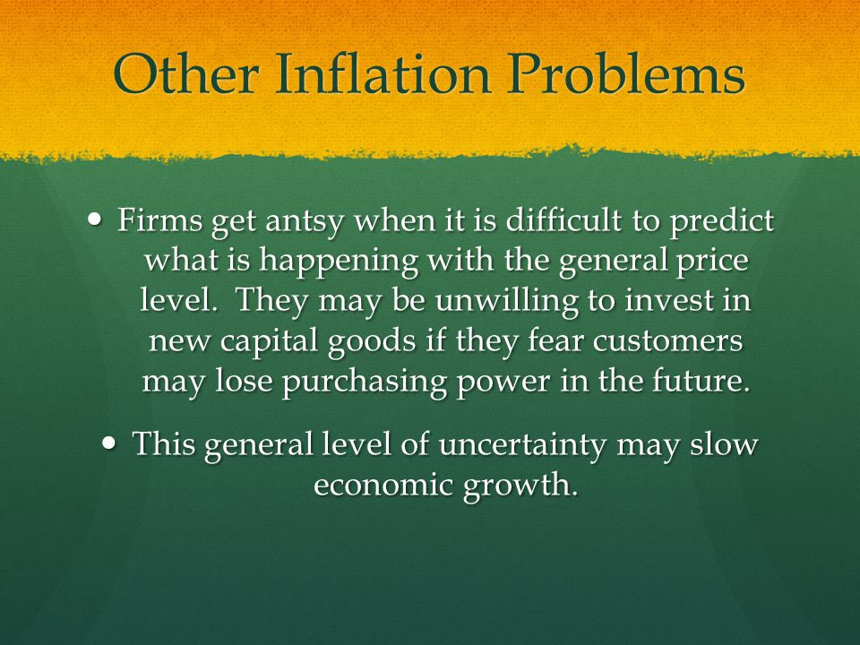 Other Inflation Problems
