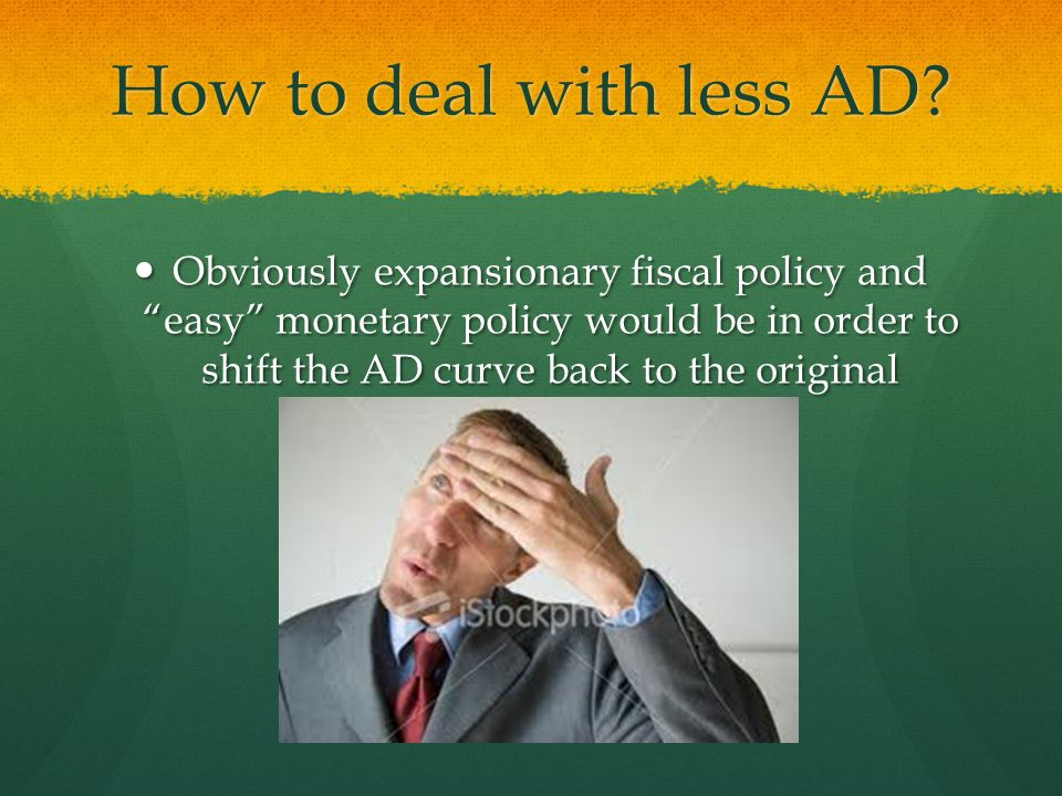 How to deal with less AD