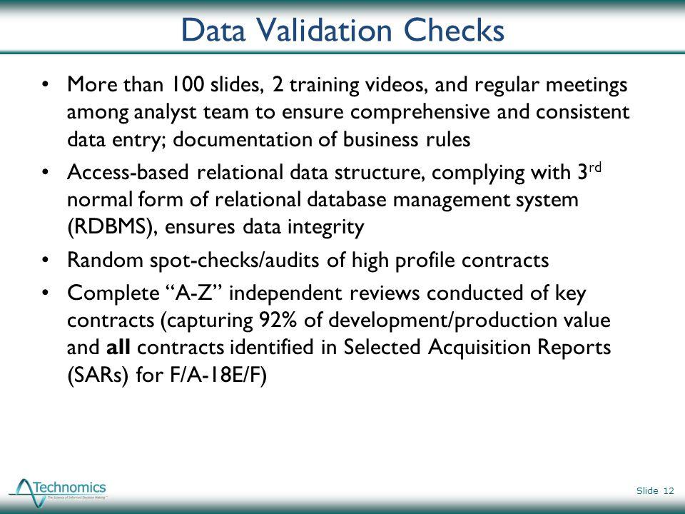 Data Validation Checks