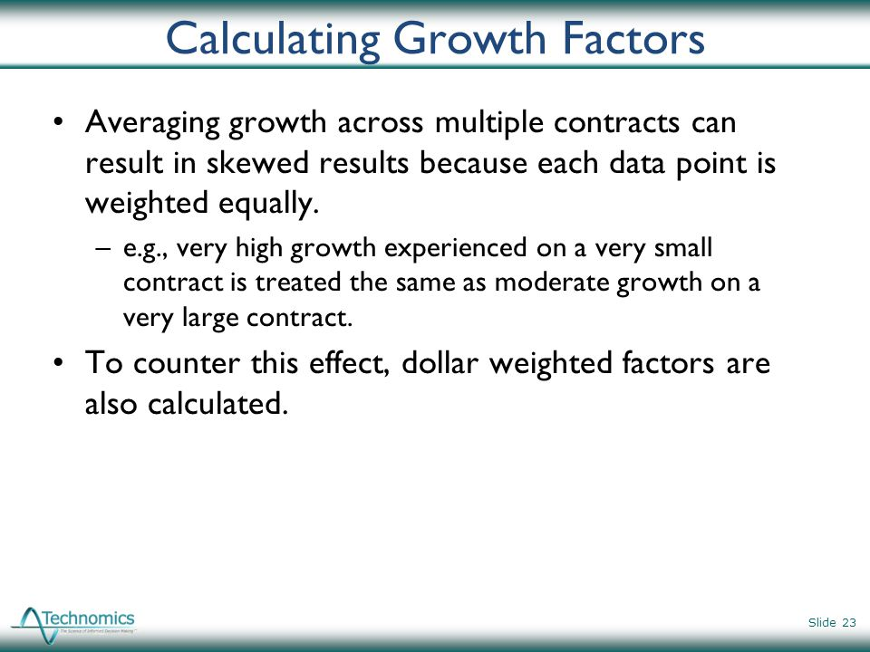 Calculating Growth Factors
