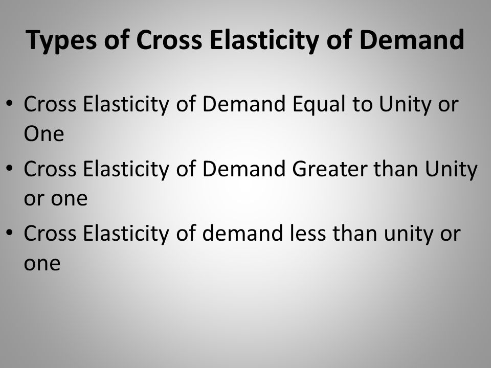 Types of Cross Elasticity of Demand