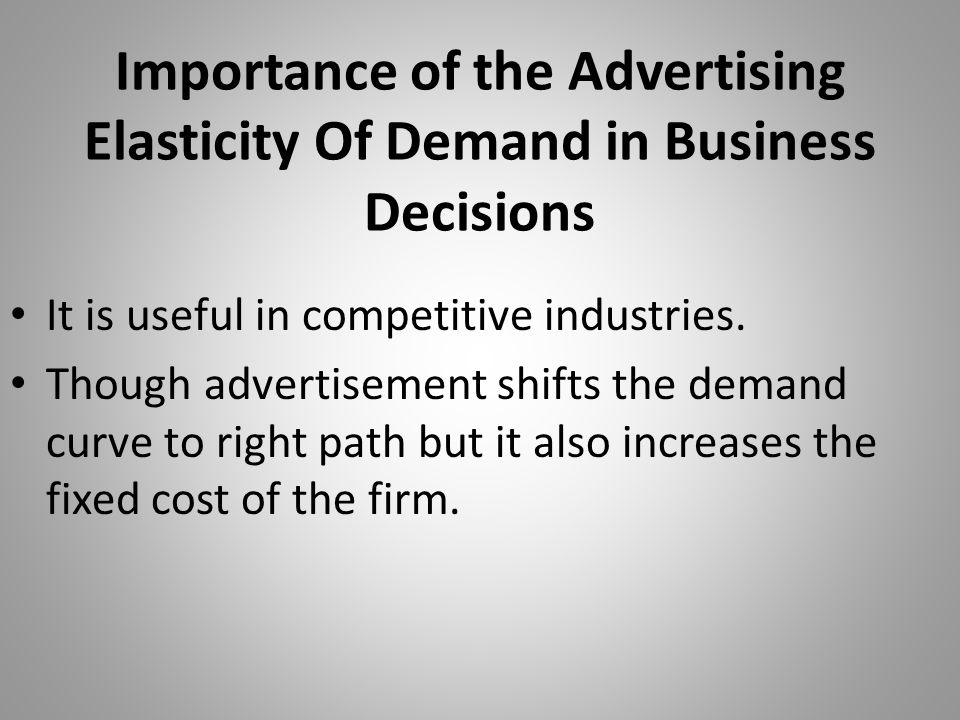 Importance of the Advertising Elasticity Of Demand in Business Decisions