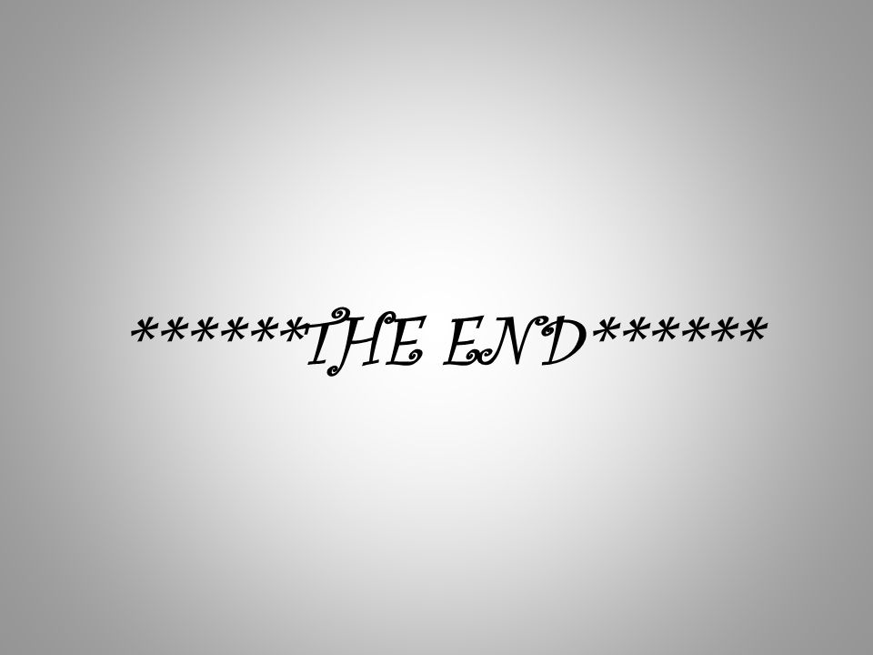 ******THE END******