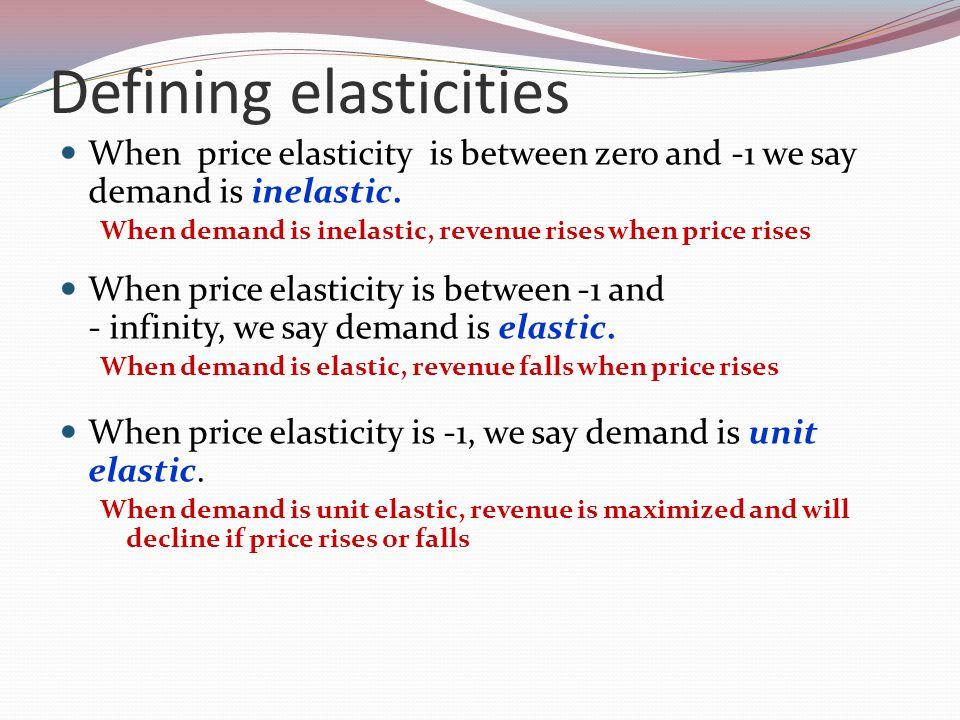 Defining elasticities