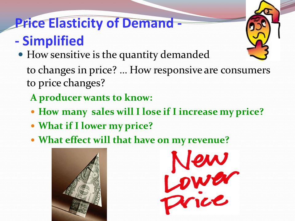 Price Elasticity of Demand -- Simplified