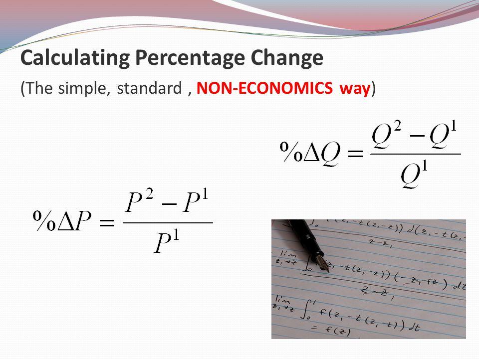 Calculating Percentage Change (The simple, standard , NON-ECONOMICS way)