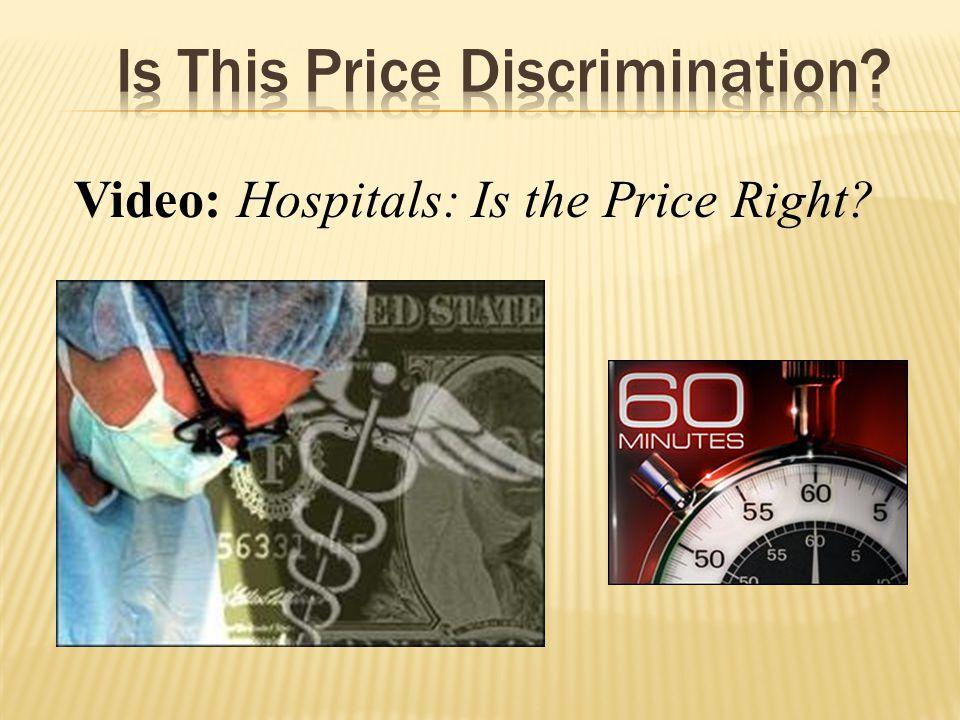 Is This Price Discrimination