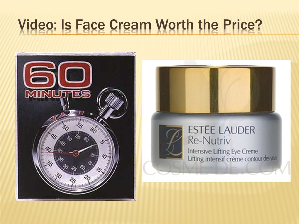 Video: Is Face Cream Worth the Price
