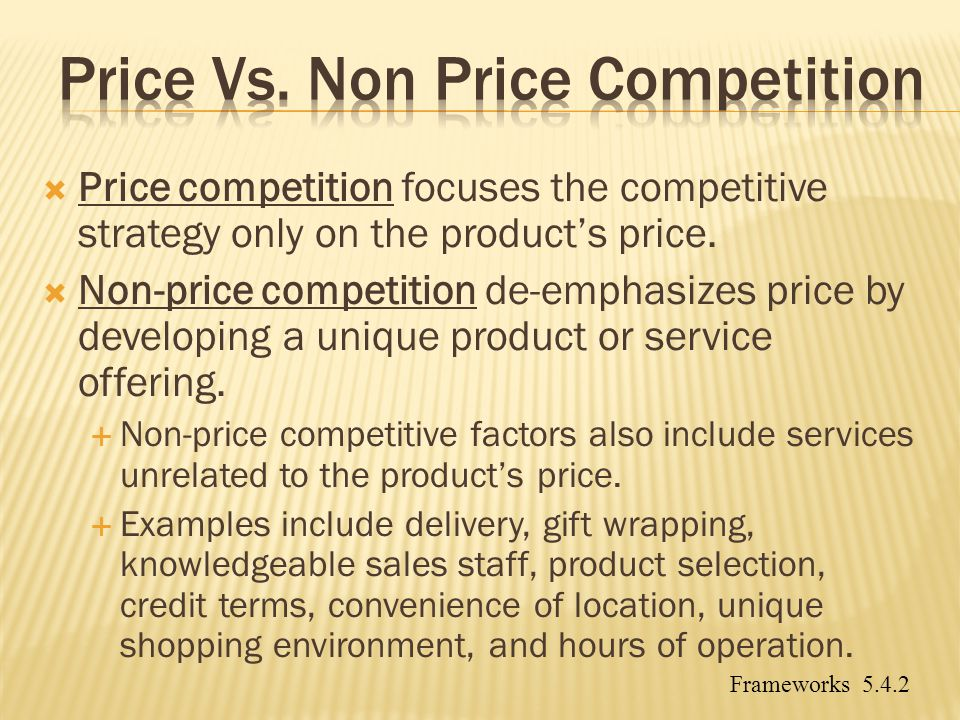 Price Vs. Non Price Competition