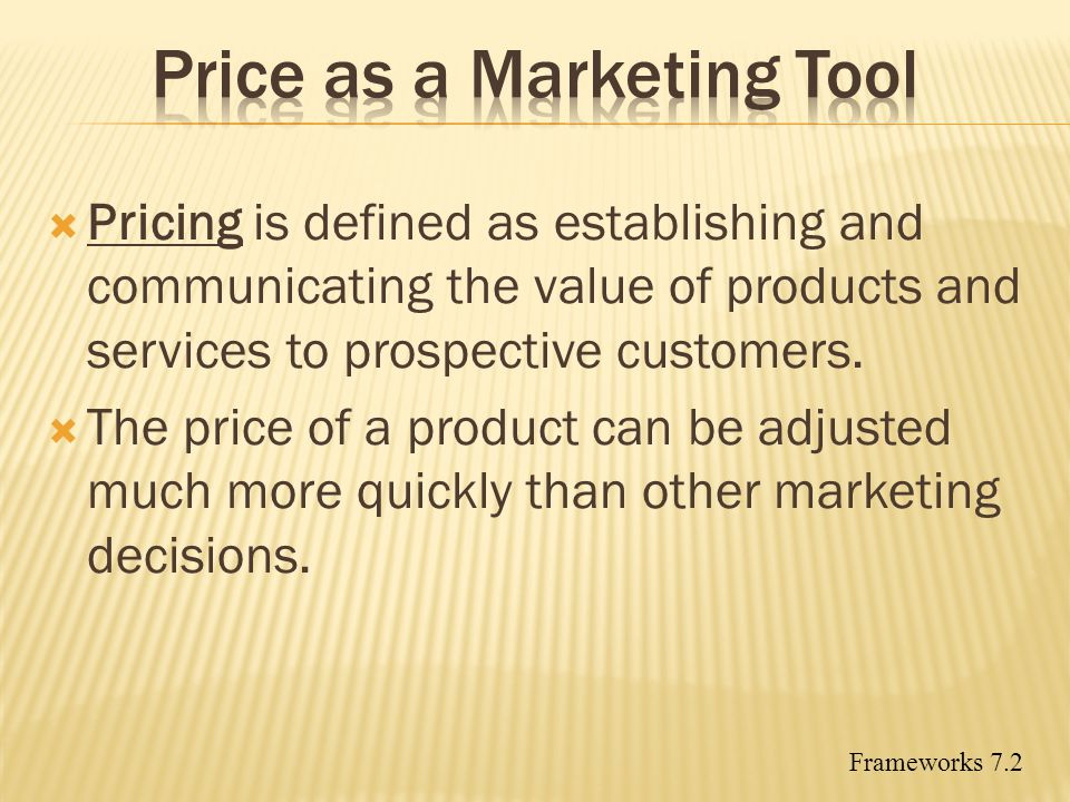 Price as a Marketing Tool
