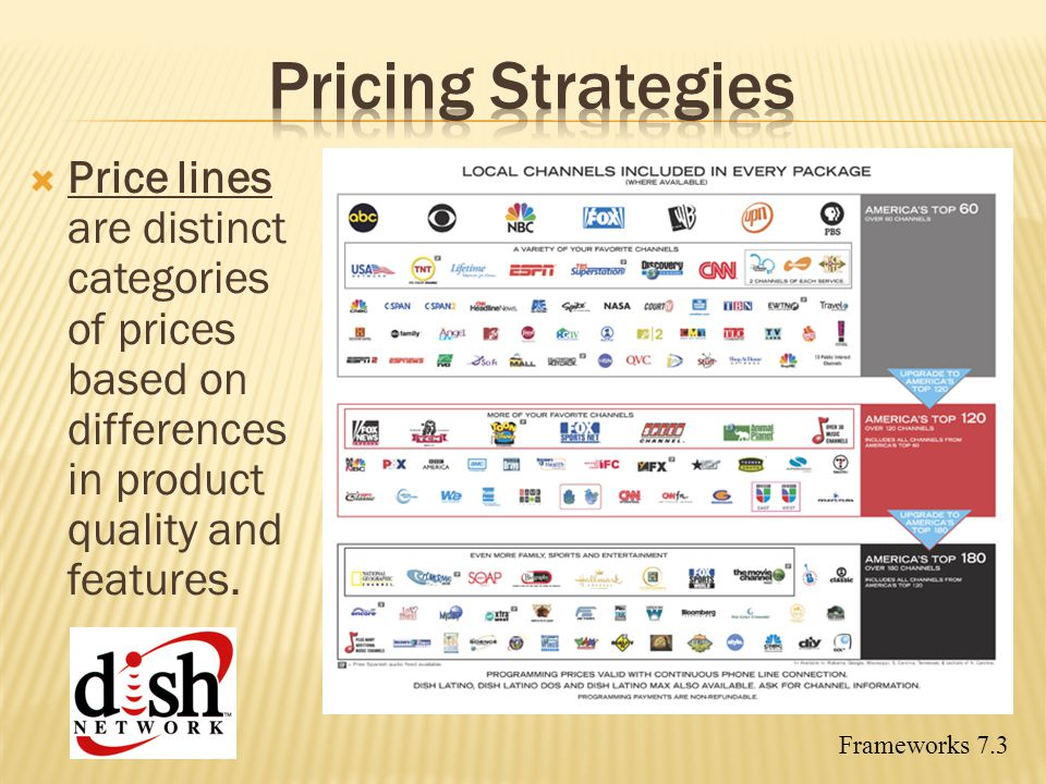 Pricing Strategies Price lines are distinct categories of prices based on differences in product quality and features.