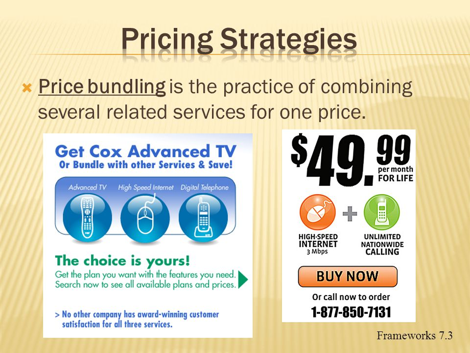 Pricing Strategies Price bundling is the practice of combining several related services for one price.