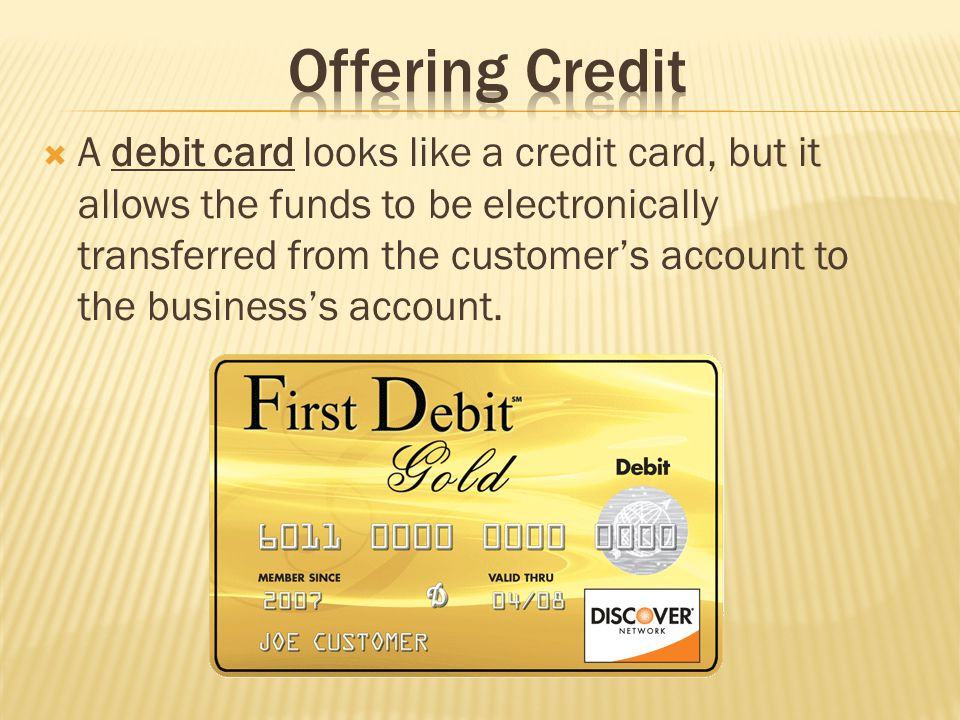 Offering Credit
