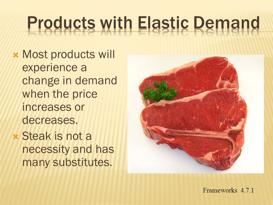 Products with Elastic Demand