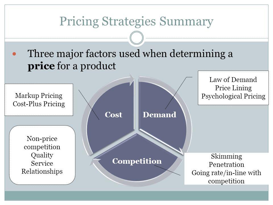 Pricing Strategies Summary