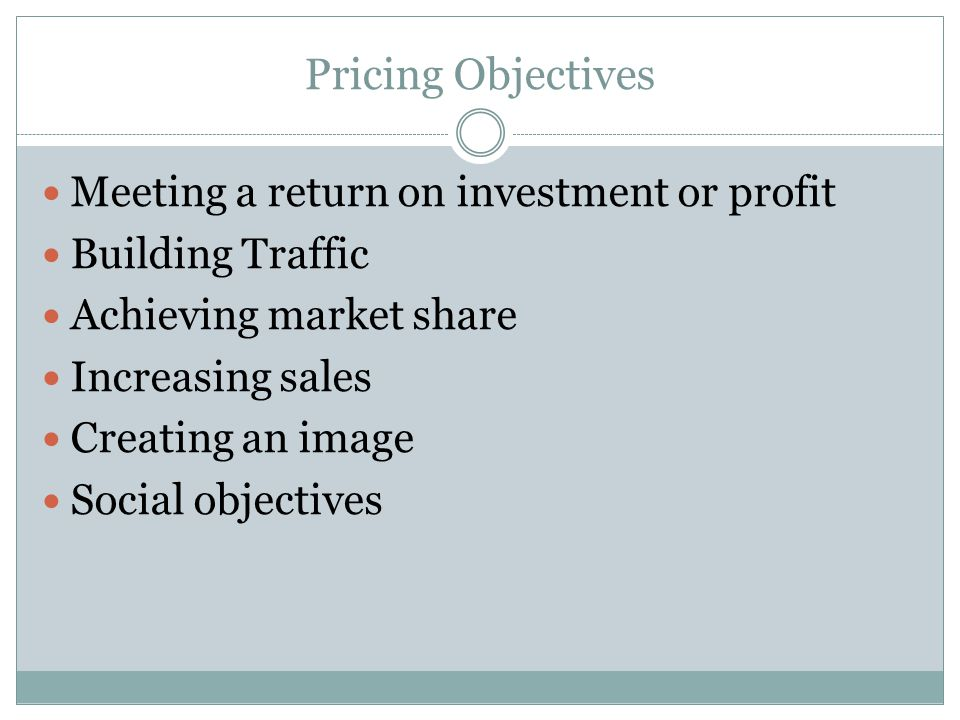 WarmUp What Factors Should Be Considered When Determining The Price