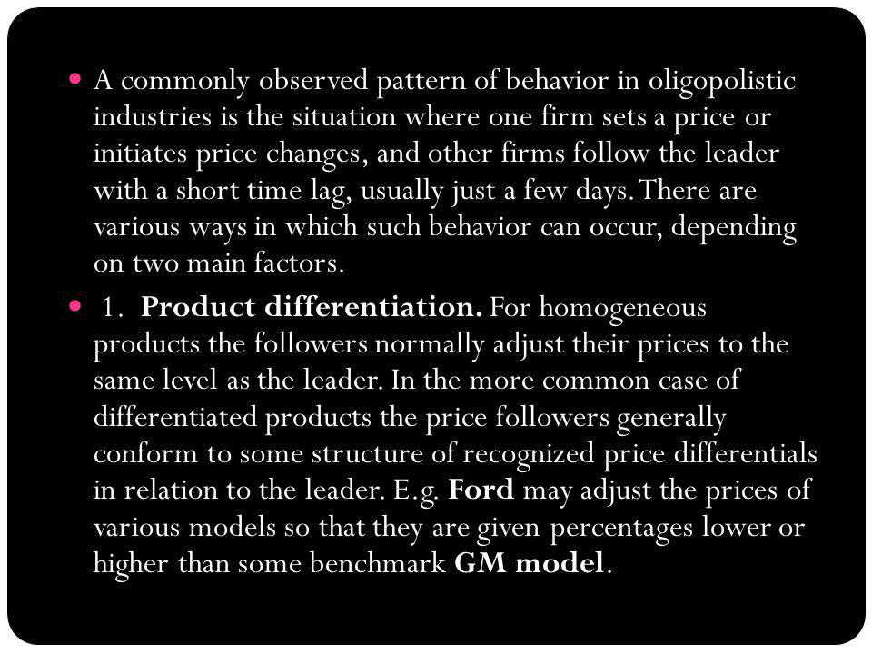 Price leadership Models: