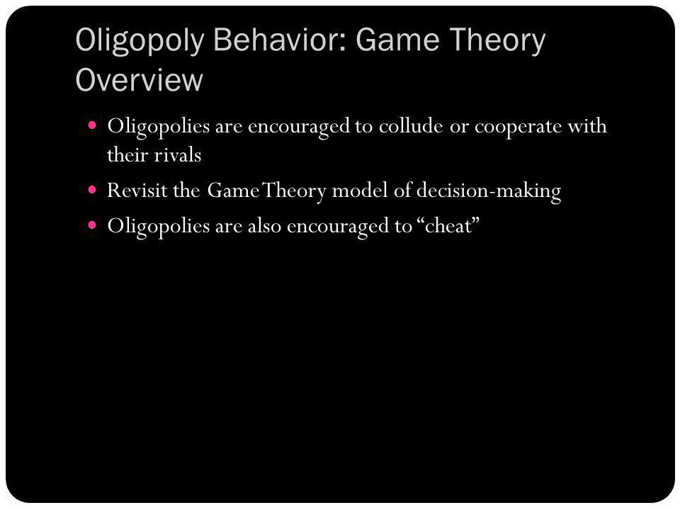 Oligopoly Behavior: Game Theory Overview